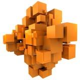 Orange cubic background Royalty Free Stock Photos