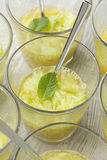 Orange and Cucumber Juice with mint Stock Photos
