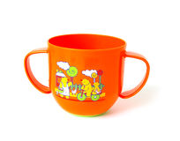 Orange cup Stock Images