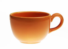 Orange cup Stock Photography