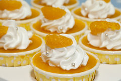 Orange cup cake Royalty Free Stock Image