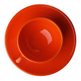 Orange cup isolated on white Royalty Free Stock Photography