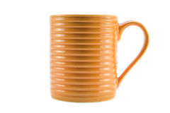 Orange cup. On white background Stock Photos