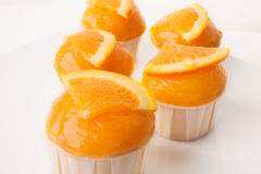 Orange cupcake Stock Photography