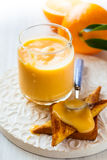 Orange curd Stock Photo