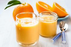 Orange curd Stock Photography
