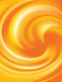 Orange curled background Stock Image