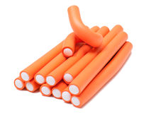 Orange curlers Royalty Free Stock Photo