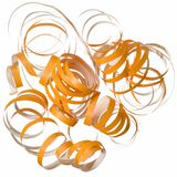 Orange curly party streamer  Royalty Free Stock Photos