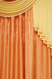 Orange curtain Stock Photography