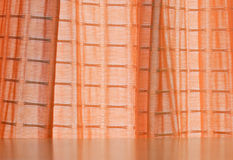 Orange curtain Royalty Free Stock Photo