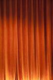 Orange Curtain backdrop. Close up shot of orange curtain Royalty Free Stock Image