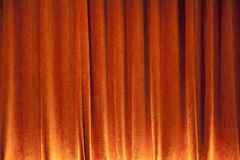 Orange Curtain background Royalty Free Stock Images
