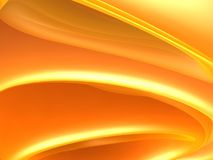 Orange curve abstract