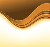 Orange curve background Stock Images