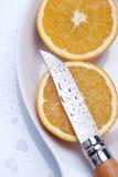 Orange cut Stock Images