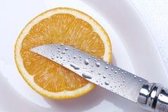 Orange cut Stock Image