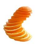 Orange cut circles Stock Images