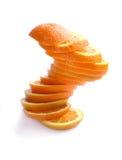 Orange cut circles Royalty Free Stock Image