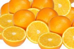 Orange cut in half, isolated Royalty Free Stock Photo