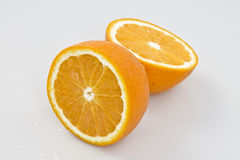 Orange cut in half Stock Photography