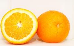 Orange Cut in Half Royalty Free Stock Photography