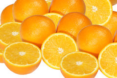 Orange Cut In Half, Isolated Royalty Free Stock Photo