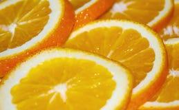 Orange. Cut into large chunks Royalty Free Stock Photo