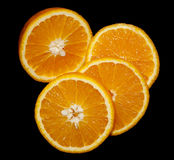 Orange in a cut ripe summer useful vitamins vega Stock Photos