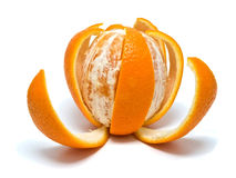 Orange with the cut skin Stock Image