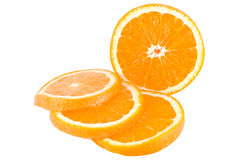 Orange, cut into slices Royalty Free Stock Photography