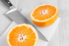 Orange Cut In Two Stock Photos