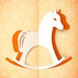 Orange cutout paper vector horse Stock Image