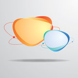 Orange Cyan-blaues des abstrakten Aufklebers Stockbilder