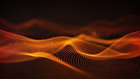 Orange cyber relief 3D rendering with DOF. Orange cyber relief. Abstract science fiction concept. Computer generated 3D rendering with DOF Royalty Free Stock Image