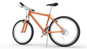 Orange cykel Arkivfoto
