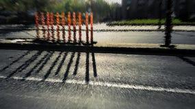Orange cylinder shadow 3D extrusion illustration Royalty Free Stock Photos