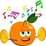 Orange with cymbals Stock Photography