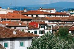 Orange Dächer des alten Teils von Florenz, Toskana, Italien, Stockbild