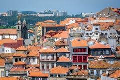 Orange Dächer von Portugal Lizenzfreies Stockbild