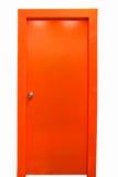 Orange dörr Arkivbild