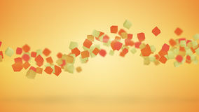 Orange 3D cubes abstract background Stock Images