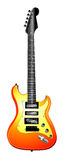 orange d'illustration de guitare électrique Photos stock
