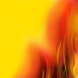 Orange d'incendie Images libres de droits