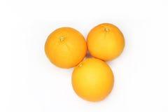 Orange d'isolement sur le fond blanc Image stock