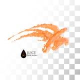 Orange 3D juice splash isolated on white Royalty Free Stock Images