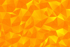 Orange 3D Polygonal Surface render Royalty Free Stock Photo