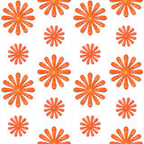 Orange daisy seamless background Stock Image