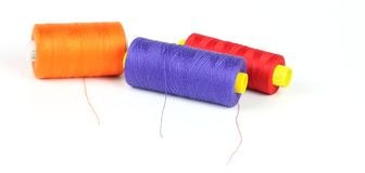 Multicolor sewing thread Royalty Free Stock Images