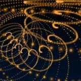 Orange darkspiral matrix sphere background Stock Image